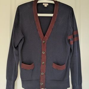 Navy and red Cardigan Men's